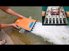Free Video Watching: Build a Sea Scooter at home Cool Boats, Small Boats, Rc Boot, Boat Cleaning, Kayaking Tips, Boat Engine, Boat Projects, Diy Boat, Woodworking For Kids
