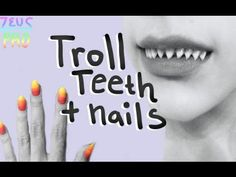 FANGS Troll Teeth + Nails Tutorial this works for all kinds of fangs. It's really simple and she explains it very well. You can use this technique for lots of different cosplays, not just homestuck. Prolly the most economical. It's easy and inexpensive.