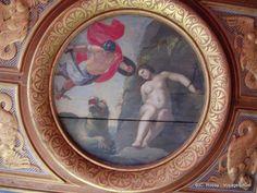Plafond à caissons de la chambre du Roi, Château de Cheverny