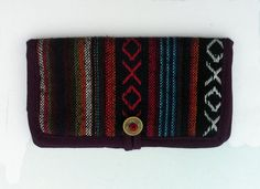 Handmade Long Wallet BiFold Clutch , Men hippie wallet purse , Travel wallet case , Boho Hippie accessories , Eco friendly wallet gift