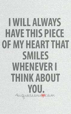 Someday it will smile, but right now it wants to weep whenever I think of you;