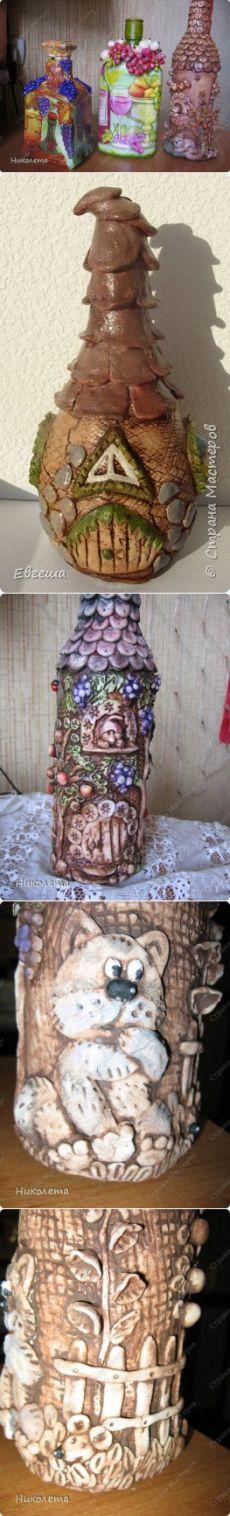 Сказочные домики из бутылки и соленого теста