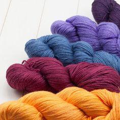 Pinta . Ein Garn aus Wolle, Seide und Ramie. 425m/100g, 12 Euro