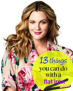 13 Things You Didn't Know You Could Do With a Flat Iron - Want a sea-swept surfer look without ever having to touch the sand? Wrap one- to two-inch sections of hair around a flat iron's plates while simultaneously twisting the iron one full turn away from your head. (Think of curling a ribbon with a pair of scissors.) Continue this process until you reach the ends, and repeat over your entire head to get perfect waves, says Jenny Strebe, creator of the D.I.Y. site Confessions of a…
