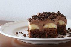 Čokoládovo banánový zákusok, recept, Zákusky | Tortyodmamy.sk Dessert Recipes, Desserts, Tiramisu, Pudding, Ethnic Recipes, Food, Cakes, Tailgate Desserts, Deserts