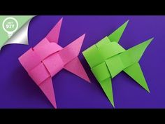 How to make origami easy – over 100 origami tutorials for all ages – Archzine.fr Origami is a good project … Origami Fish Easy, How To Make Origami, Origami Butterfly, Useful Origami, Diy Origami, Origami Ideas, Fish Paper Craft, Paper Folding Crafts, Fish Crafts