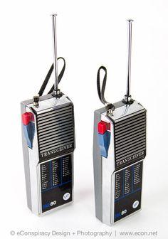 2 Vintage VF SOLID STATE 80 Silver Retro Walkie Talkies 2-Way Radio Transceiver #VF