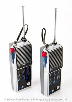2 Vintage VF SOLID STATE 80 Silver Retro Walkie Talkies 2-Way Radio Transceiver #VF