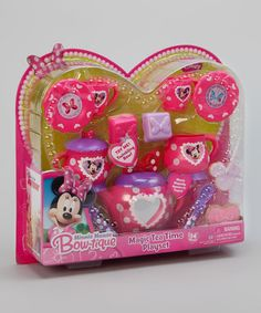 Take a look at this Minnie Mouse Bow-tique Twinkle Bows Magic Tea Time Play Set by Minnie Bowtique on #zulily today!