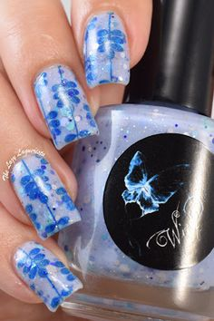 Leaf Nail Art Nail Stamping  WingDust Collections Nothing But Blue Skies, Zoya Remy, Born Pretty Store BP27