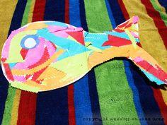 Preschool Collage Art Fish - Swimmy or Rainbow fish!
