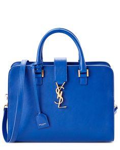Saint Laurent Cabas Small Monogram Leather Shoulder Bag is on Rue. Shop it now.