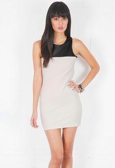 lovers + friends Lust Mini Dress in Cream/Black  $109