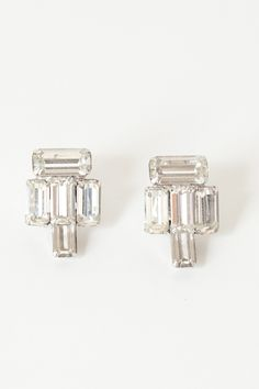 Want these clean and bold earrings with baguettes shaped rhinestones to go with my rocker chic outfit.