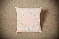 Rhombus Salmon Pink - Handwoven cushion cover - 100% cotton by JuliaAstreou on Etsy https://www.etsy.com/listing/155525159/rhombus-salmon-pink-handwoven-cushion