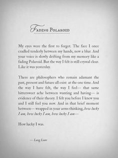 Fading Polaroid by Lang Leav