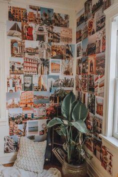 Bedroom Photos, Room Ideas Bedroom, Bedroom Decor, Cute Room Ideas, Cute Room Decor, Photowall Ideas, Travel Collage, Bedroom Wall Collage, Teen Girl Bedrooms