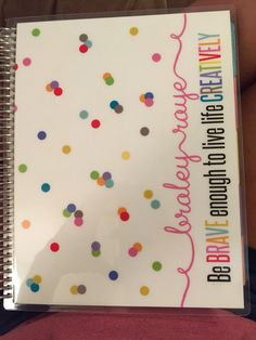 My new Erin Condren Life Planner cover! I absolutely love it!!! #erincondren