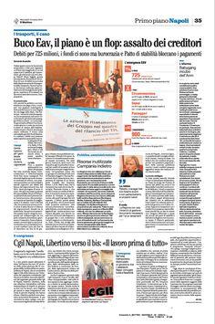 EAV - buco da 725 milioni, piano di salvataggio flop: soldi bloccati da patto di stabilità