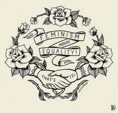 Feminism Means Equality! - Kjersti Faret Portfolio
