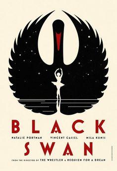 worpress.com ◕ croquis black swan 20I0 darren aronofsky / illustration movie cinéma affiche poster design graphism oiseau bird cygne
