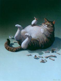 Michael Sowa (German' 1945) - Killer Cat
