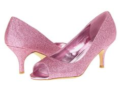 RSVP Brittan glittery pink peep toe pumps