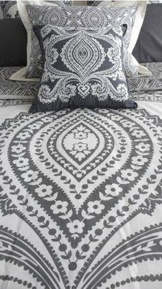 Amy Butler Lends Feminine Bohemian Eye to New Organic Bedding - EcoSalon Les Accents, Fashion Design Inspiration, Pillow Shams, Pillows, Cushions, Paisley, Gray Matters, Textiles, Amy Butler
