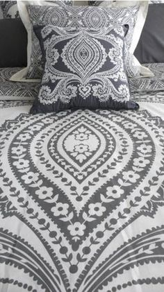 paisley in grey and white