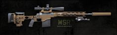 Remington Modular Sniper Rifle (MSR). New rifle will quick change to three different calibers; 5.56, 308, 338. link to Remington Defense: http://www.remingtonmilitary.com/Firearms/Sniper%20Rifles/MSR.aspx