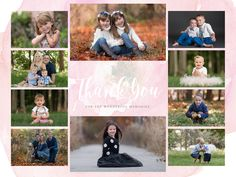 End of the year Thank you photography sample