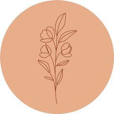 Feeds Instagram, Instagram Story, Vintage Flowers Wallpaper, Line Illustration, Instagram Highlight Icons, Story Highlights, Boho, Pattern Wallpaper, Line Art