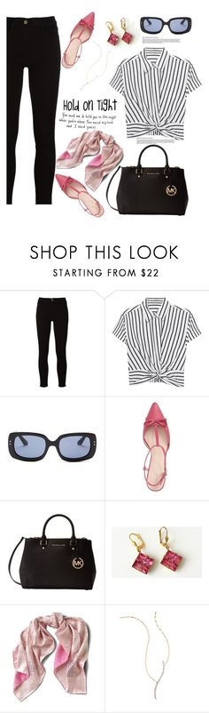 """""""hold on tight"""" by felicitysparks ❤ liked on Polyvore featuring Frame, T By Alexander Wang, Elizabeth and James, Kate Spade, Michael Kors, Asprey and Lana"""