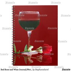 Shop Red Rose and Wine Journal/Notebook Notebook created by Stephanielaird. Journal Notebook, Journals, Beautiful Notebooks, Red Roses, Red Wine, Wedding Planner, Alcoholic Drinks, Great Gifts, Glass