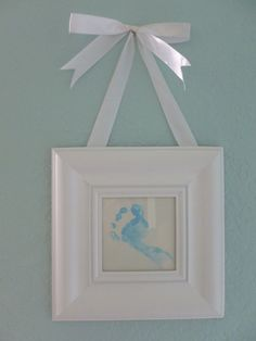 DIY Nursery Wall Art | Canvas Letters, Footprints & Greeting Cards | Southwest Florida Baby