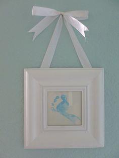 DIY Nursery Wall Art | Canvas Letters, Footprints & Greeting Cards|Southwest Florida Baby
