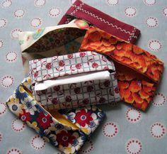 Just add elastic to hang on visor in car! the handbag tissue holder