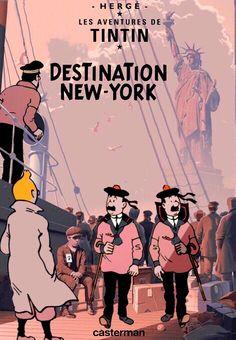 Les Aventures de Tintin - Album Imaginaire - Destination New York