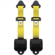 Seat Belt Solutions Front 3-Point Retractable Seat Belt, Yellow - Pair