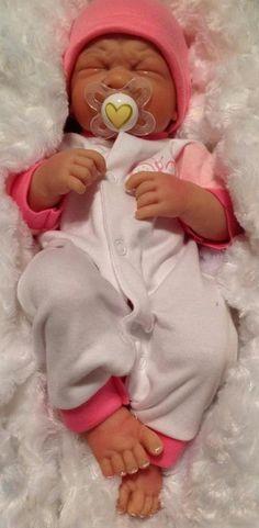 AWW PREEMIE SWEET BABY!REBORN BERENGUER PREEMIE DOLL PAINTED WEIGHTED W EXTRAS #BERENGUER