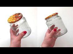 (28) #DIY Simple idea from Glass jars | Jar decor | Recycling ideas - YouTube Glass Jars, Mason Jars, Black Acrylic Paint, Decorated Jars, Diy Home Crafts, Recycling Ideas, Easy Diy, Simple Diy, Decoupage
