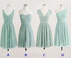 chiffon bridesmaid dress vintage bridesmaid dress by sofitdress, $90.00