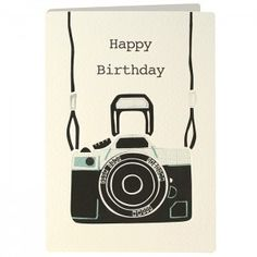 Birthday Camera Retro Press Card