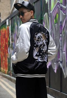 Vintage+Japanese+'Sukajan'+Souvenir+Bomber+Jacket