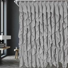 Shower Curtains You'll Love in 2020 | Wayfair Luxury Shower Curtain, Elegant Shower Curtains, Colorful Curtains, Hanging Curtains, Bed & Bath, Grey, Modern, House, Design