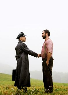 Body language is talking here and it's being really, really loud. #Inglourious Basterds