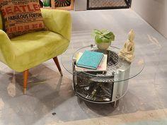 Mesa con tambor de lavarropas