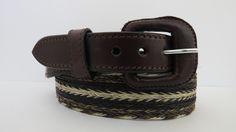 TEMPLE de MEXICO Handmade horsehair leather belt.