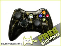 Black Gold Marble Custom Xbox 360 Controller - Brand New 360 Controller