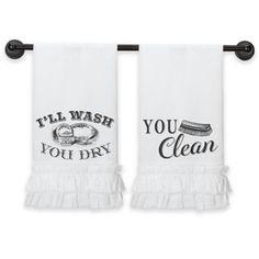 Lillian Rose™ Cotton Kitchen Towels in White - BedBathandBeyond.com